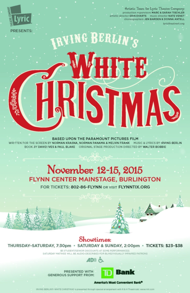 White Christmas Lyrics.White Christmas Lyric Theatre Company